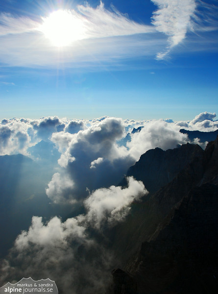 Clouds over Karwendel mountains