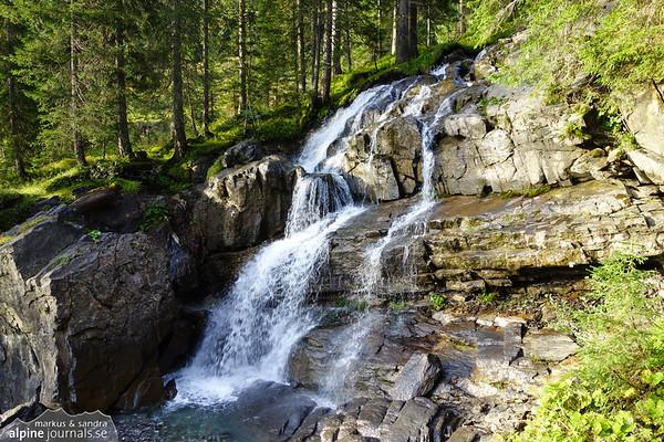 Waterfall at Melköde in Kleinwalsertal