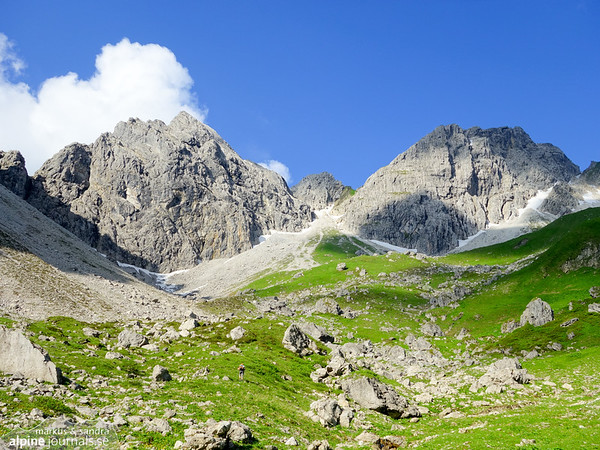 Angererkopf and Lichlkopf in Wildental, Kleinwalsertal