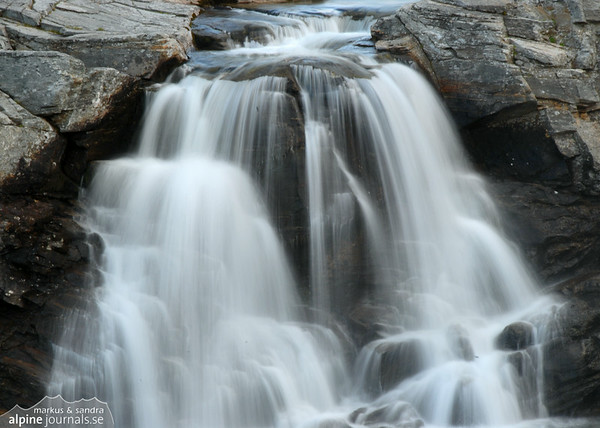 Waterfall by Kungsleden, Sweden