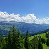 Panorama from Piesenkopf over the upper and lower ridges of Gottesacker (Untere and Obere Gottesackerwände).