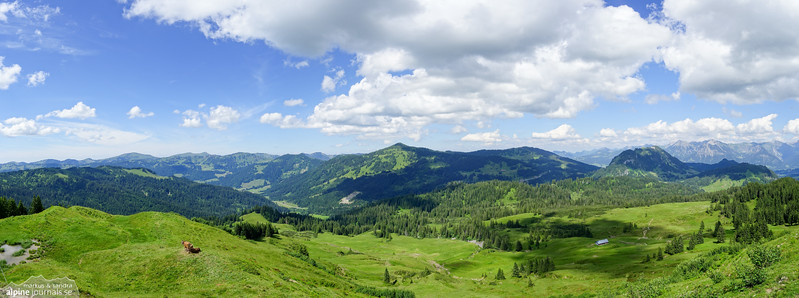 Panorama from Piesenkopf.