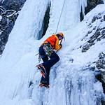 Schwarze Wand ice climbing, Tannheim