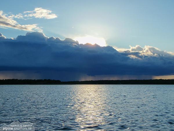 Clouded sky over the Stockholm archipelago