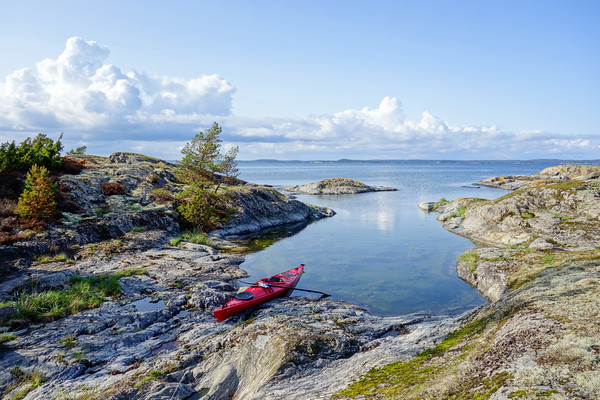 Home at last - the island Ängsholmen where camp was set up for the night.