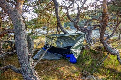 Simple is often better. Camp at Ängsholmen.