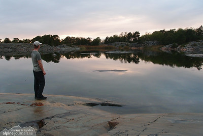 Tranquile evening in the Stockholm archipelago