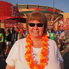 Nancy enjoying the setting sun at Light The Night - 17 Sept 2011
