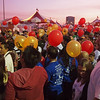 Gold balloons were carried by those who have lost someone to Leukemia or Lymphoma - 17 Sept 2011