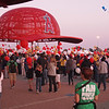 Getting ready to start the walk at Light The Night - 17 Sept 2011