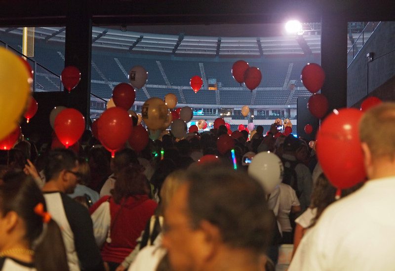 Almost inside the stadium at Light The Night - 17 Sept 2011