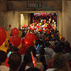 Large crowds heading into the stadium at Light The Night - 17 Sept 2011