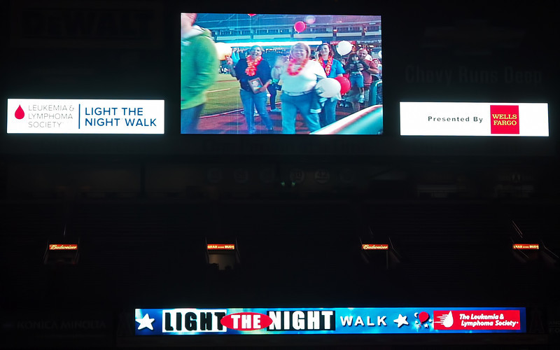 Angel, Anthony, Nancy and Jamie on the big screen at Light The Night - 17 Sept 2011