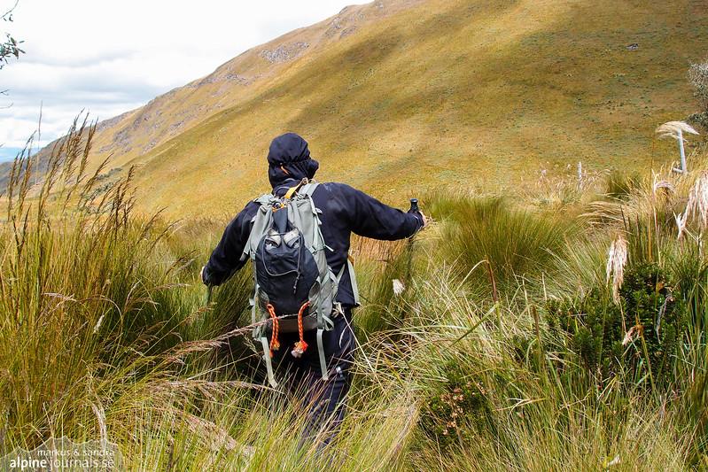 Off the beaten track towards Pichincha Guagua