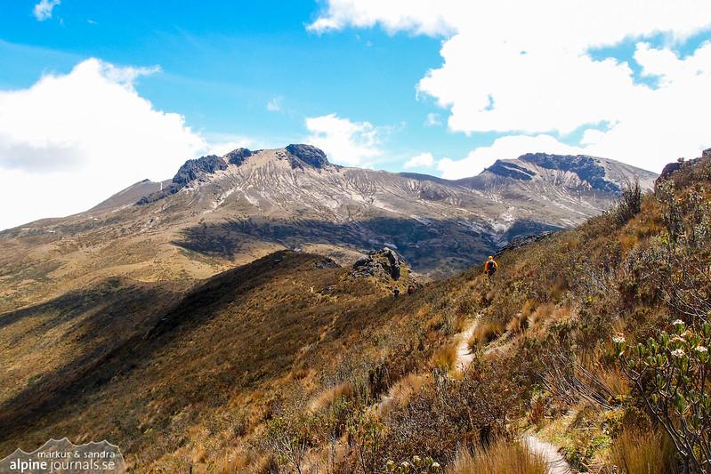 Our path towards Pichincha Guagua.
