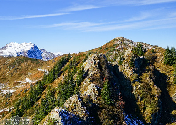 Rocky ridge from Grünhorn to Steinmandl.
