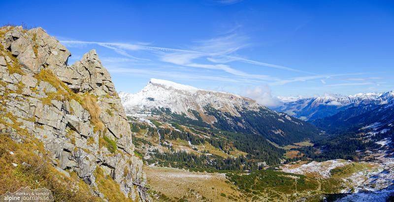 Hohe Ifen and Schwarzwassertal from the Grünhorn-Steinmandl ridge