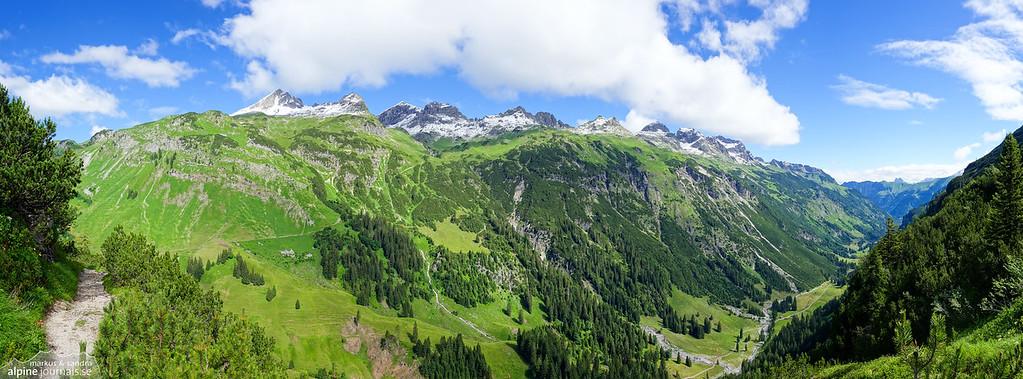 View from Schrofenpass