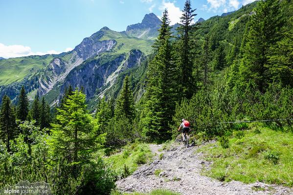 Technical single trail Freiburger Hütte - Dalaas