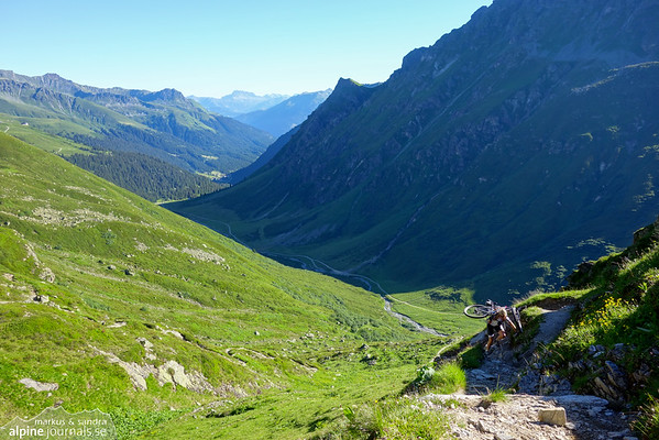 400 meters of climbing up to Schlappiner joch