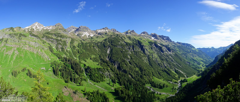 Rappenalptal from Schrofenpass
