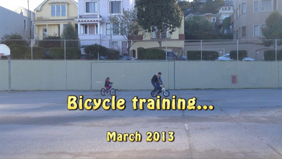 More bicycle training...