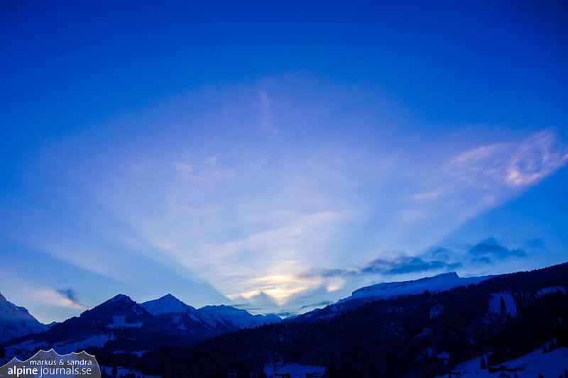Evening light radiating over  over Schwarzwassertal