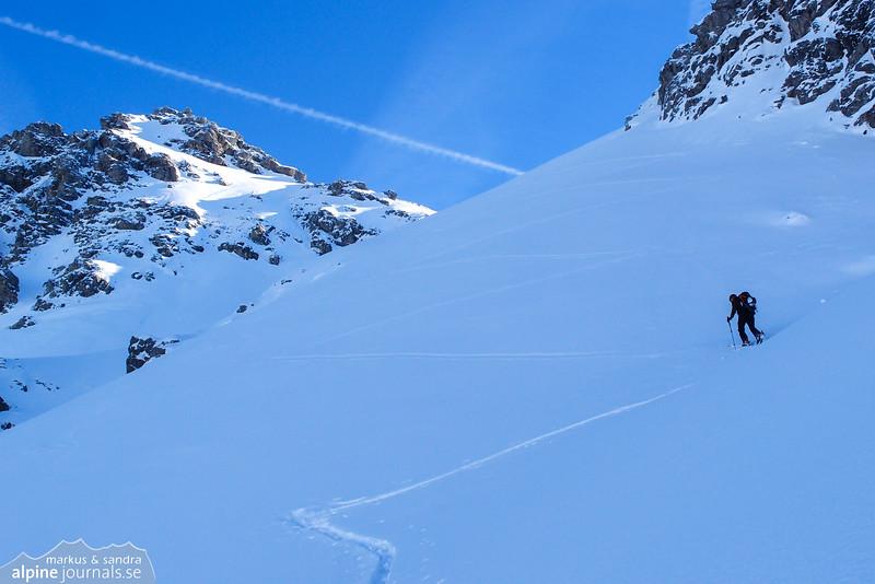 A steep section on ascending Alpgundkopf.