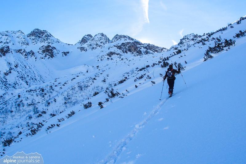 Markus ascending in the direction of Fiderepass.