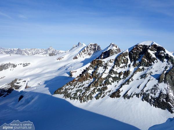 The Breithorn summits