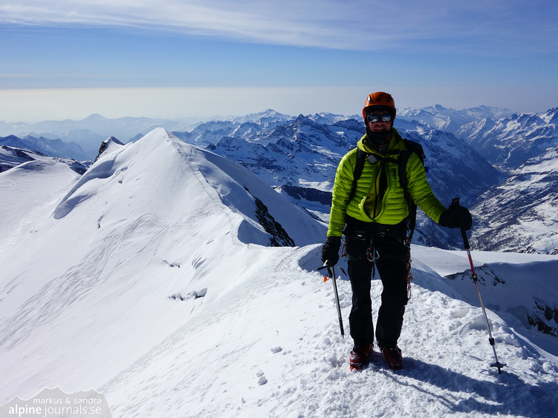 Castor summit and continuation to Lyskamm