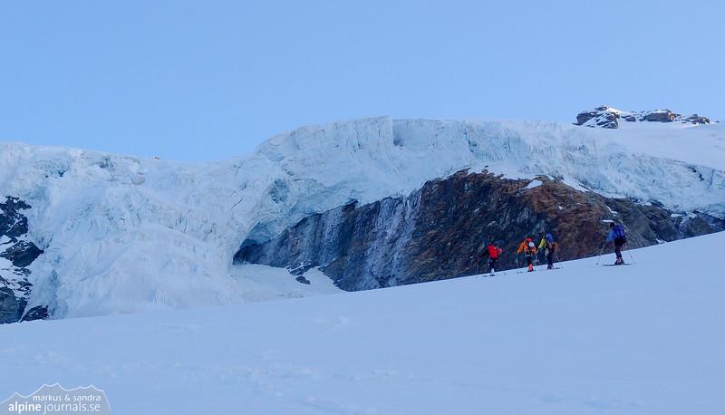 Glacier Grande Ghiacciaio de Verra, just above Rifugio Guide Val d' Ayas