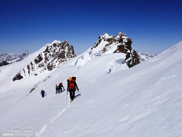 Roccia Nera summit ridge