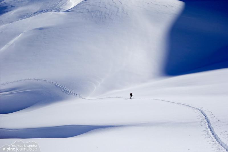 Open snowscapes in Kleinwalsertal, Austria