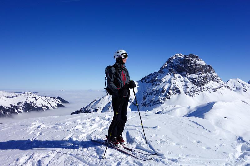 Markus enjoying the summit sun :-)