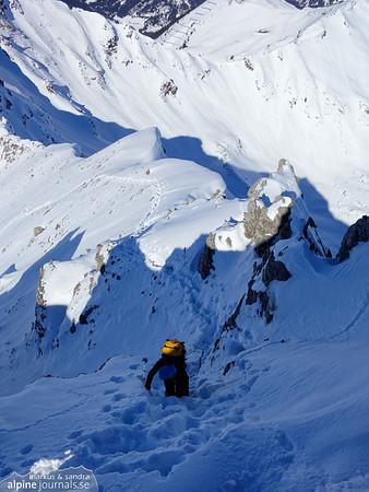 Descending from Hochgehrenspitze.