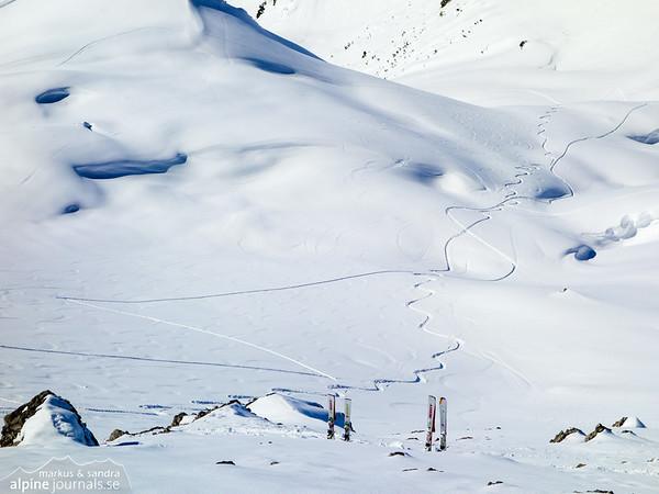 Ski depot at Hochgehrenspitze.