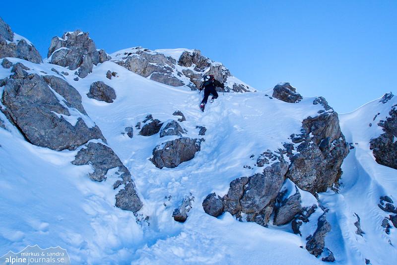 Ascending Hochgehrenspitze, steeper going.