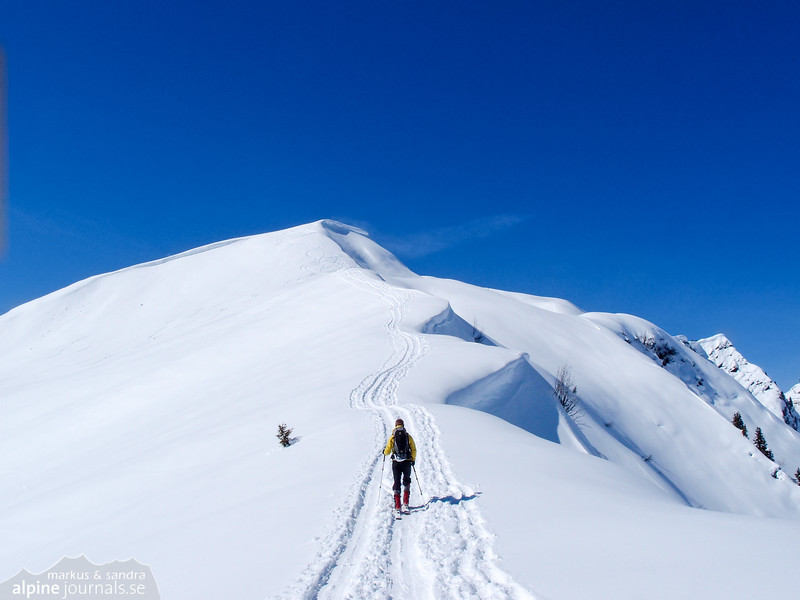 Towards Falzer Kopf, the second summit of the day.