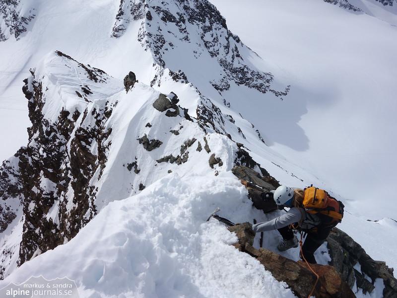Ascending Silvrettahorn