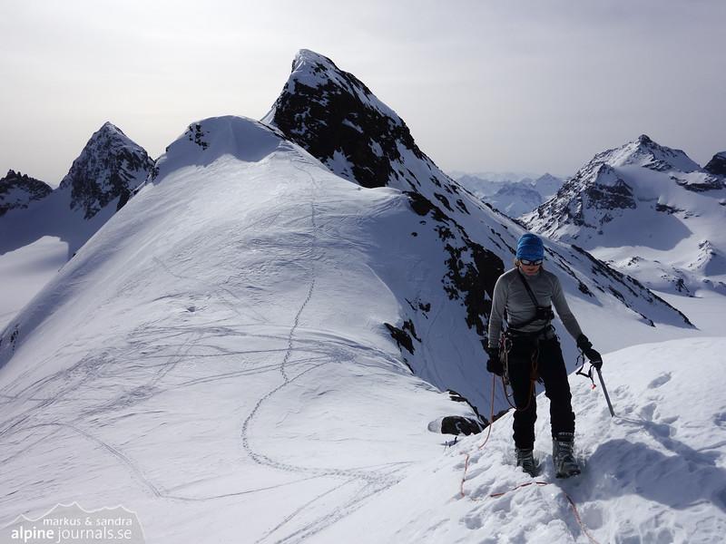 Ascending Silvretta Egghorn