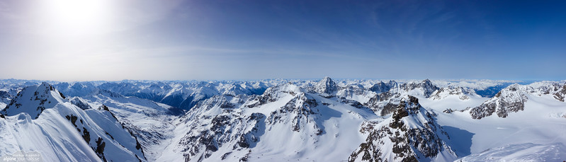 View from Piz Buin