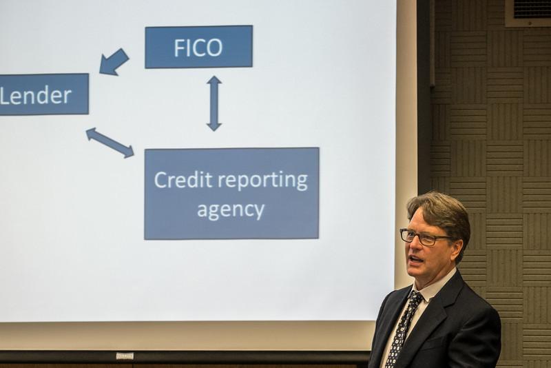 John Goodson, explaining how credit scores are created.