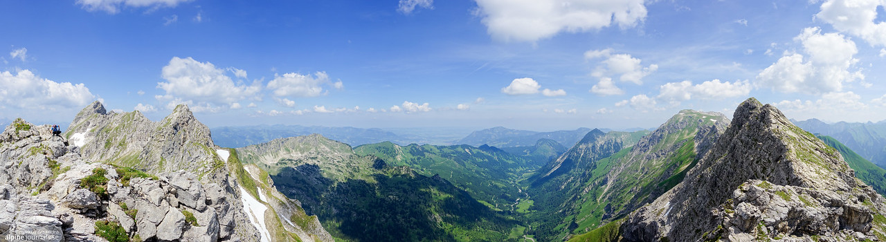 Hindelanger Klettersteig panorama