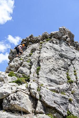 Another peak to ascend, at the last section of Hindelanger Klettersteig.