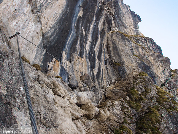 Just at the beginning of the ferrata.