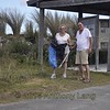 <b>Cleanup Day Volunteers Roy Truelove and Linda Lee Phillips</b> June 20, 2015 <i>- Anthony Lang</i>