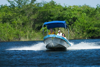River tour in Orange Walk, Belize.
