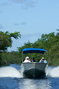 River tour in Orange Walk, Belize.