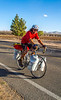 New Mexico - Southern Tier rider Randy Salvo on NM 187 north of Salem - C3-0120 - 72 ppi